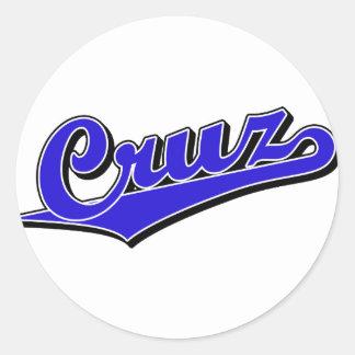 Cruz in Blue Classic Round Sticker