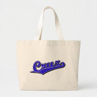 Cruz in Blue Jumbo Tote Bag