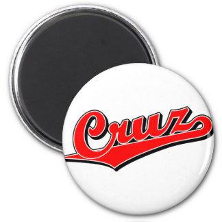 Cruz in red 2 inch round magnet