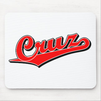 Cruz in red mouse pad