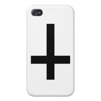 cruz invertida iPhone 4 funda