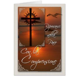 Cruz italiana de la tarjeta de condolencia de