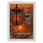 Cruz italiana de la tarjeta de condolencia de Comp