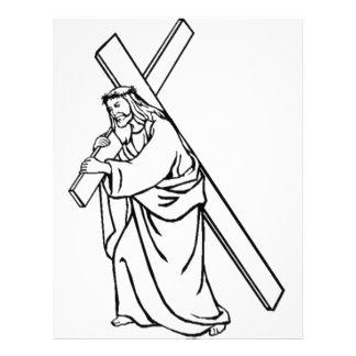 cruz-Jesús Membrete Personalizado