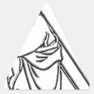 cruz-jesuscharcoal pegatina triangular
