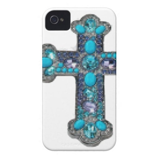 Cruz jeweled iPhone 4 Case-Mate fundas