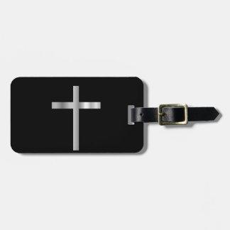 Cruz latina del cristianismo etiquetas bolsas