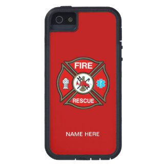 Cruz maltesa del bombero de EMT iPhone 5 Fundas
