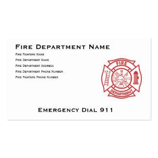 Cruz maltesa del cuerpo de bomberos plantilla de tarjeta de visita