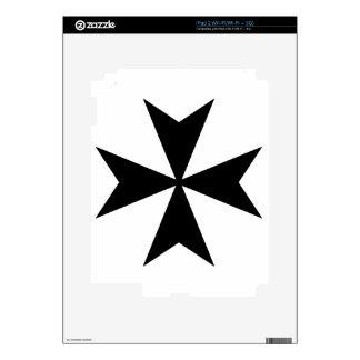 Cruz maltesa iPad 2 calcomanías