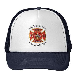Cruz maltesa jubilada del bombero gorro