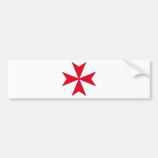 cruz maltesa pegatina para auto