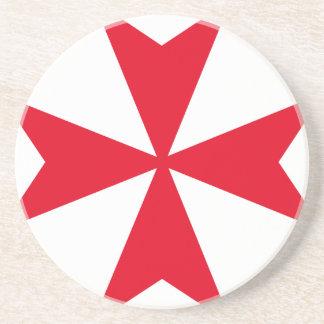 cruz maltesa posavasos diseño