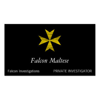 Cruz maltesa plantilla de tarjeta personal