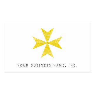 Cruz maltesa tarjeta de negocio