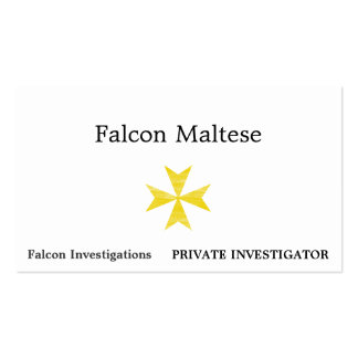 Cruz maltesa plantillas de tarjetas de visita