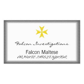 Cruz maltesa tarjetas de visita