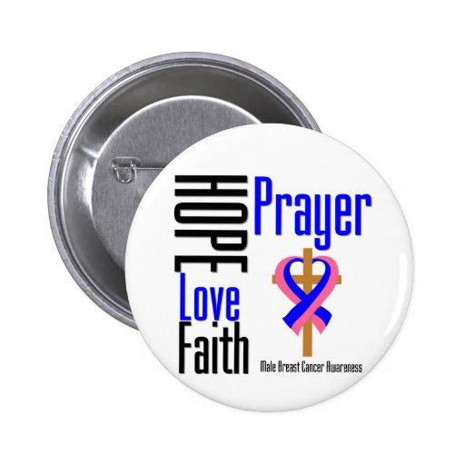 Cruz masculina del rezo de la fe del amor de la es pins