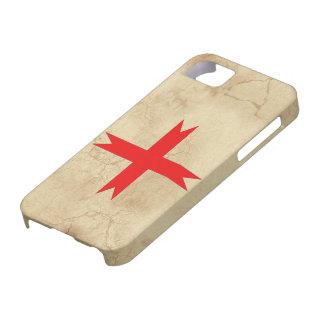 Cruz medieval de los caballeros Templar Funda Para iPhone 5 Barely There