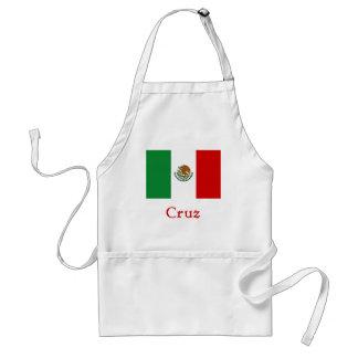 Cruz Mexican Flag Adult Apron