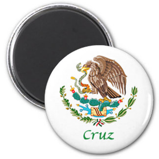 Cruz Mexican National Seal 2 Inch Round Magnet