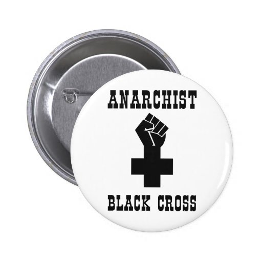 Cruz negra del anarquista pin
