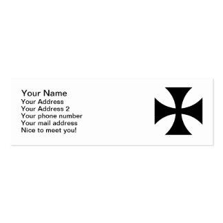Cruz negra del hierro tarjetas de visita mini