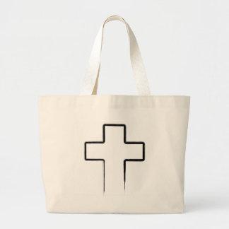 Cruz negra del metal bolsas de mano