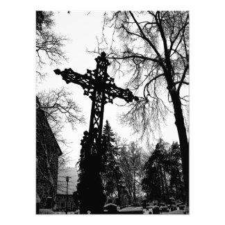 Cruz negra arte con fotos