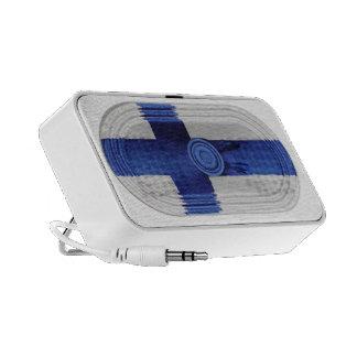 Cruz nórdica azul de la bandera de Finlandia en el iPhone Altavoz