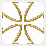 cruz occitana calcomanía cuadradas personalizada