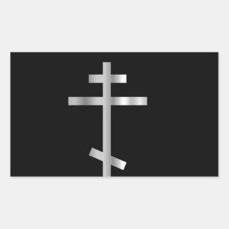 Cruz ortodoxa del cristianismo pegatinas