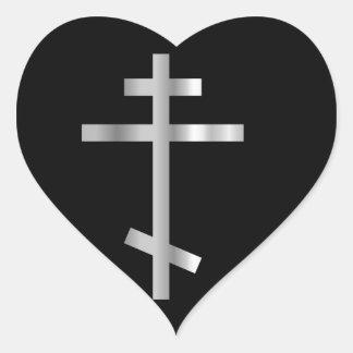 Cruz ortodoxa del cristianismo etiqueta