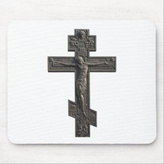 Cruz ortodoxa rusa alfombrilla de raton