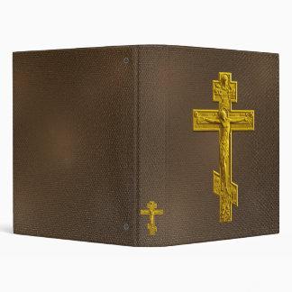Cruz ortodoxa rusa de oro