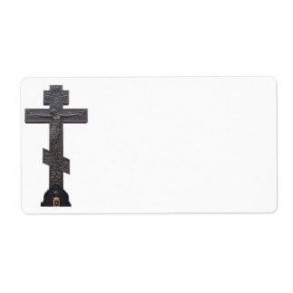 Cruz ortodoxa rusa etiqueta de envío