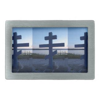 Cruz ortodoxa rusa hebillas cinturon rectangulares