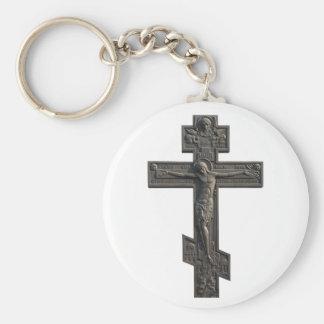 Cruz ortodoxa rusa llavero