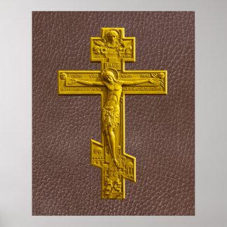 Cruz ortodoxa rusa impresiones