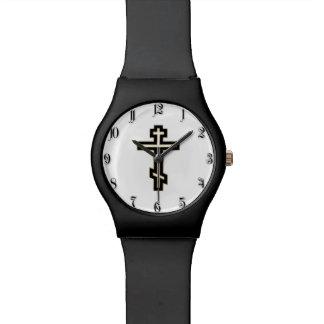 Cruz ortodoxa rusa relojes