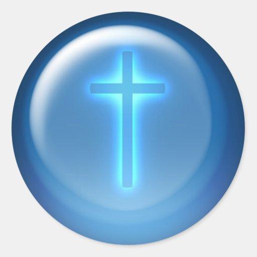Cruz - pegatina cristiano