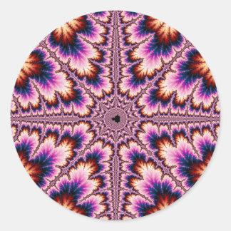 Cruz - pegatina rosado del fractal