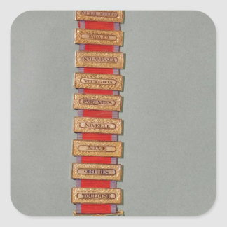 Cruz peninsular del oro, c.1813 pegatina cuadrada