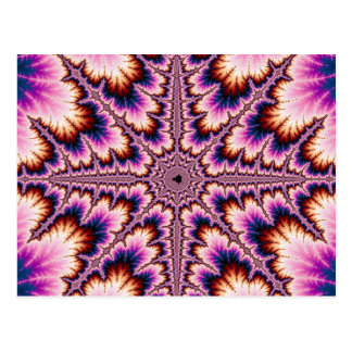 Cruz - postal rosada del fractal