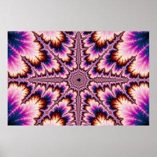 Cruz - poster rosado del fractal