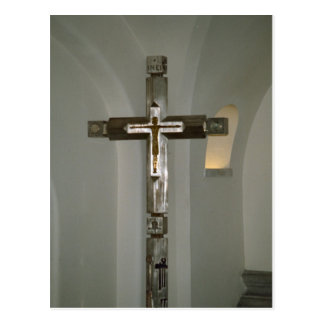 Cruz procesional en las catacumbas tarjeta postal