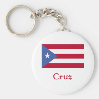Cruz Puerto Rican Flag Key Chain