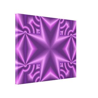 Cruz púrpura del modelo impresion de lienzo