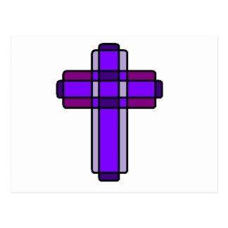 Cruz púrpura postal