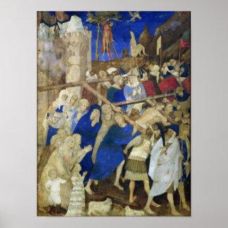 Cruz que lleva de Cristo, Grandes Heures Póster